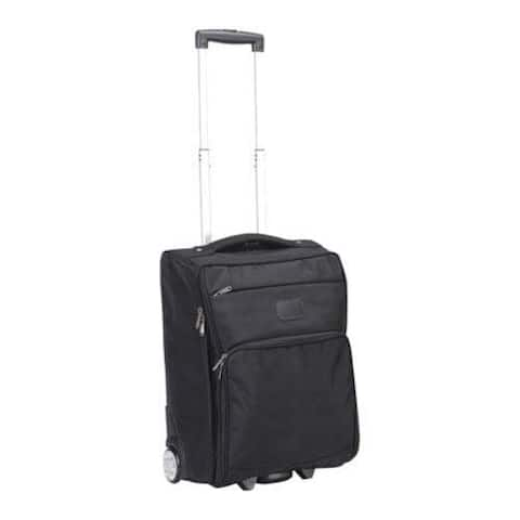 """Goodhope Black 21-inch Foldable Carry On Upright Suitcase - 21"""" x 8"""" x 14"""""""