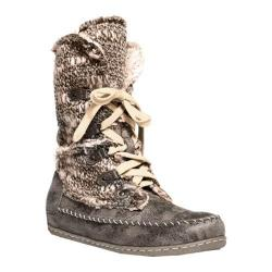 MUK LUKS Women's Lilly Lace Up Boot Grey