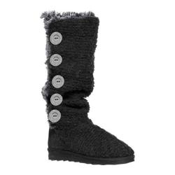 MUK LUKS Women's Malena Crotchet Button Up Boot Black