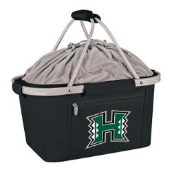 Picnic Time Metro Basket Hawaii Warriors Print Black