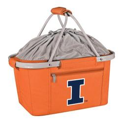 Picnic Time Metro Basket Illinois Fighting Illini Print Orange