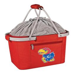 Picnic Time Metro Basket Kansas Jayhawks Print Red
