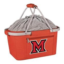 Picnic Time Metro Basket Miami University Red Hawks Print Red