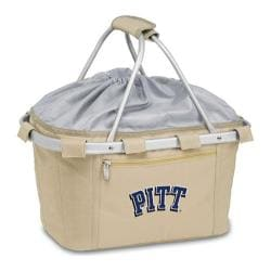 Picnic Time Metro Basket Pittsburgh Panthers Embroidered Tan