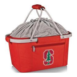 Picnic Time Metro Basket Stanford U Cardinal Print Red