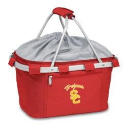 Picnic Time Metro Basket USC Trojans Embroidered Red