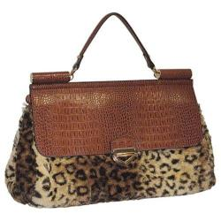 Women's Adrienne Landau Stick Handle Satchel Brown
