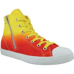 Women's Burnetie High Top Zip Red/Yellow