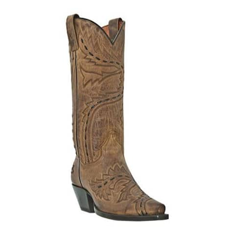 Women's Dan Post Boots Sidewinder DP3422 Tan Madcat Goat Leather