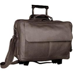 David King Leather 104 Wheeled Briefcase Cafe
