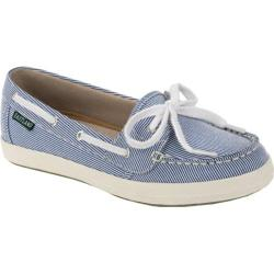 Women's Eastland Skip Blue Striped Canvas