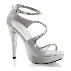 Women's Fabulicious Cocktail 526 Silver Satin