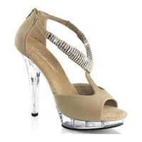 Women's Fabulicious Lip 155 Taupe Nubuck/Clear