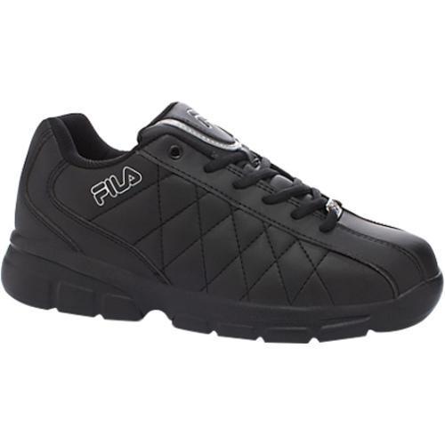 2e6236a6ab Shop Men's Fila Fulcrum 3 Black/Black/Metallic Silver - Free Shipping Today  - Overstock - 9271600