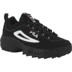 Men's Fila Disruptor II Black/White/Vintage Red
