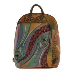 Women's Anuschka Sling-Over Travel Backpack Dancing Peacock