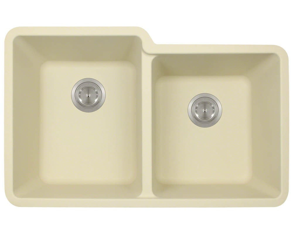 MR Direct 801 TruGranite Double Offset Bowl Kitchen Sink