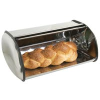Sweet Home Collection Sleek Stainless Steel Breadbox