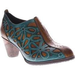 Women's L'Artiste by Spring Step Arabella Camel/Turquoise Leather