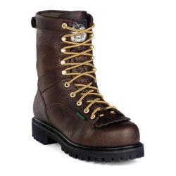 Men's Georgia Boot G8041 GWP 8in Lace To Toe Heritage Vibram Tumbled Chocolate