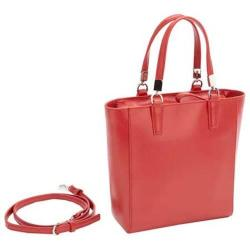 Women's Royce Leather RFID Blocking Saffiano Leather Mini Tote Red