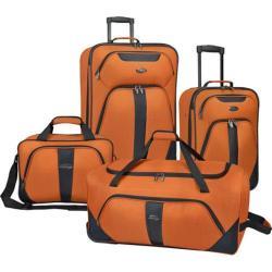 US Traveler Oakton 4-Piece Luggage Set Black