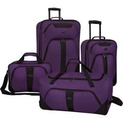 US Traveler Oakton 4-Piece Luggage Set Purple