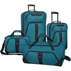 US Traveler Oakton 4-Piece Luggage Set Teal