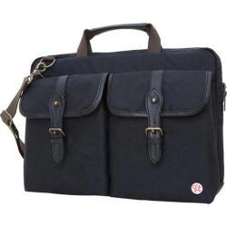 Token Waxed Knickerbocker Laptop Bag 15in Black/Black