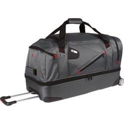 Ful Grey/ Red 30-inch Drop Bottom Hybrid Rolling Duffel Bag