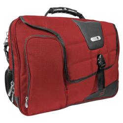Commotion Red Messenger Bag for 17-inch Laptops