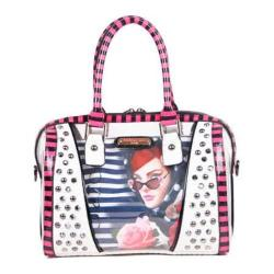 Women's Nicole Lee Lady In Red Print Boston Bag Lady In Red