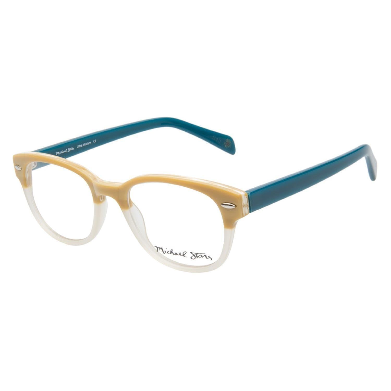 e1fae265c7 Shop Michael Stars Ultra Modern Linen Teal Prescription Eyeglasses ...