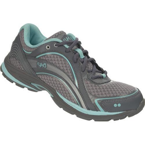 RYKA Women's Sky Walking Shoe, Frost Grey/Aqua Sky/Iron Grey, 10 W US