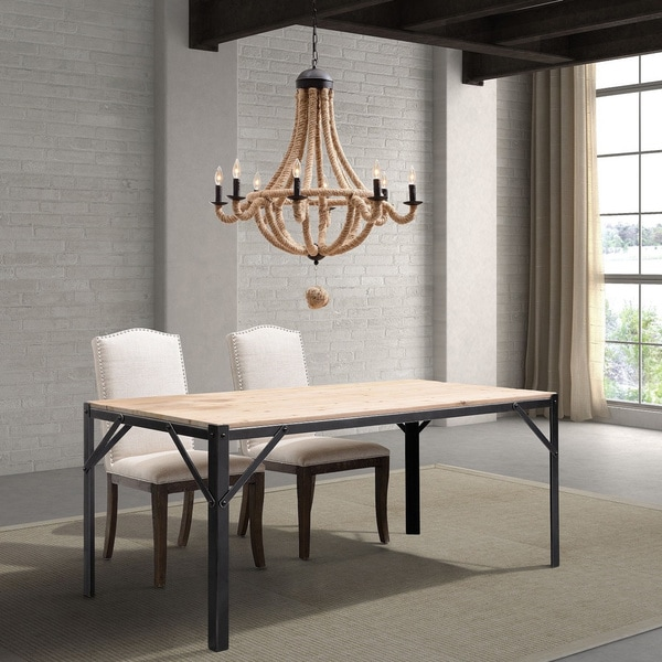 Old World Dining Room Chandeliers: Shop 'Celestine' Twined Rope 8-light Chandelier Ceiling