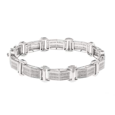 Sterling Silver 3/5ct TDW Diamond Women's Bracelet