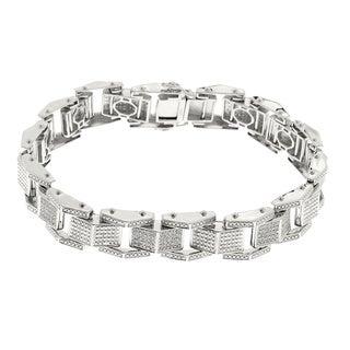 Sterling Silver 4/5ct TDW Mens Diamond Bracelet (H-I, I1-I2)