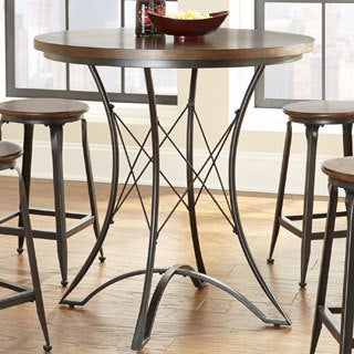 Exceptionnel Stockton Oak Round Pub Height Table Brown Free Shipping Today. Greyson  Living Hampton 48 Inch ...