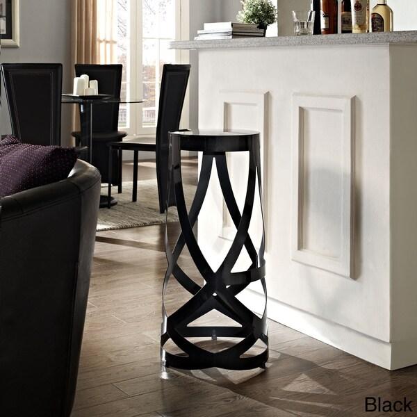 'Ribbon' Aluminum Strips Modern Stool