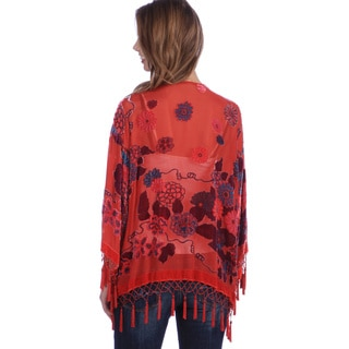 Hand-Made Embroidered Velvet-and-Silk Unlined Shawl Jacket