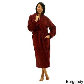 Del Rossa Women's Thick Shawl Collar Terry Cotton Bath Robe