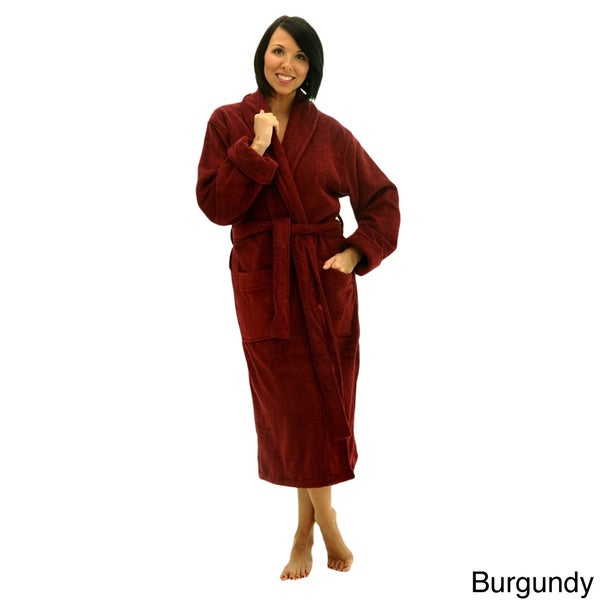 Del Rossa Women's Thick Shawl Collar Terry Cotton Bath Robe
