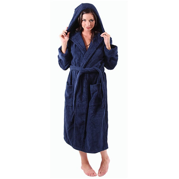83a8db68bf Shop Del Rossa Women s Thick Hooded Terry Cotton Robe - Free ...