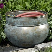 'Sonoma' Blue Verde Brass Hose Pot