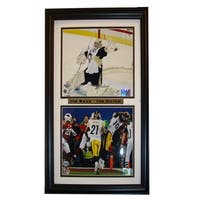 Pittsburgh Penguins Steelers The Save-The Catch Double Deluxe Photograph Frame