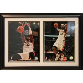 Cleveland Cavaliers LeBron James 12 x 18-inch Double Custom Frame