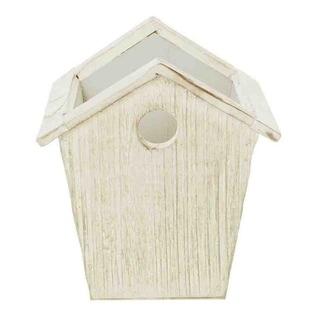 Wald Imports 4.75-inch Whitewash Wood Birdhouse Planter (Set of 4)