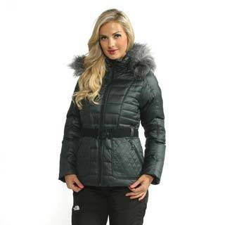 The North Face Women's Black Parkina Down Jacket (As Is Item)