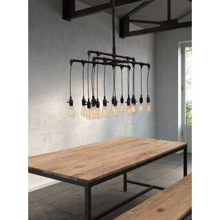 Maldonite 16-light Rust/ Black Ceiling Lamp