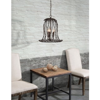 Chert 3-light Rust Ceiling Lamp
